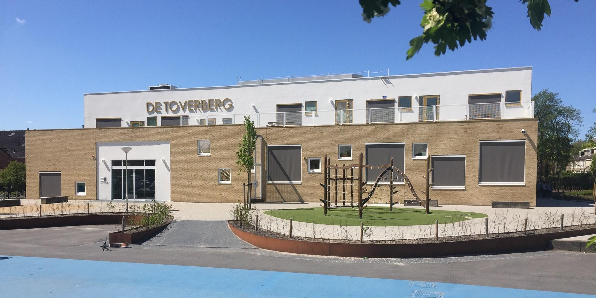 voorgeven kindcentrum Toverberg met verspringende ramen