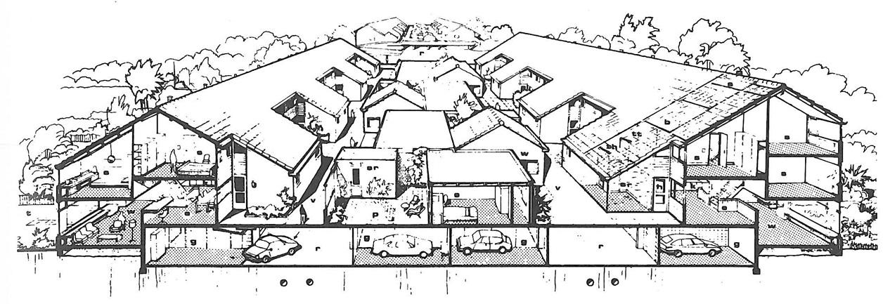 doorsnede experimentele woningbouw woondekken