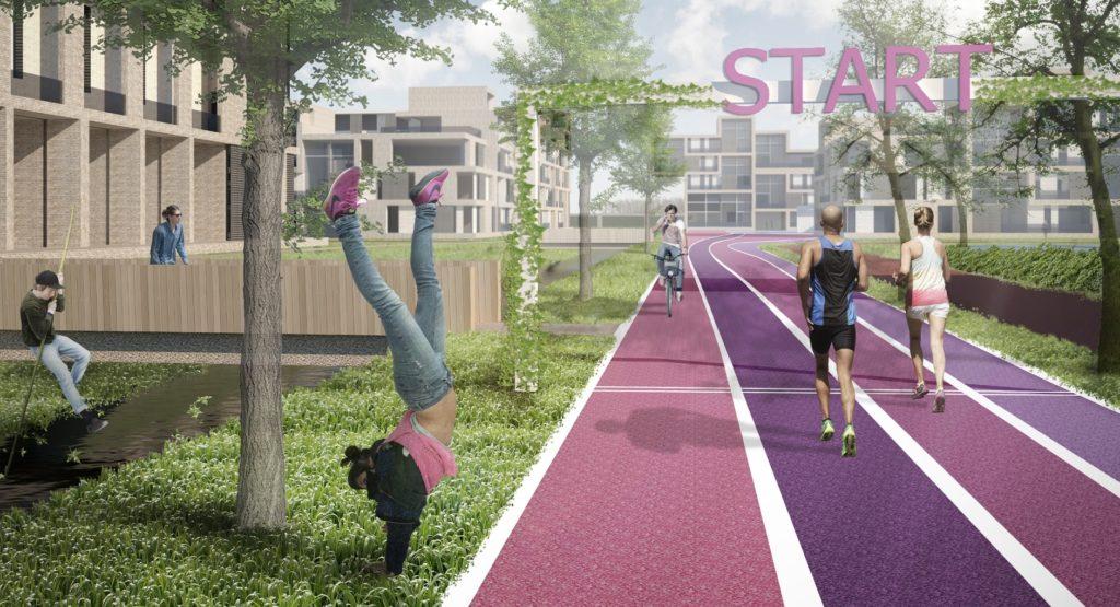 plan Sport-Spindel voor wonen in van tuyllpark zoetermeer