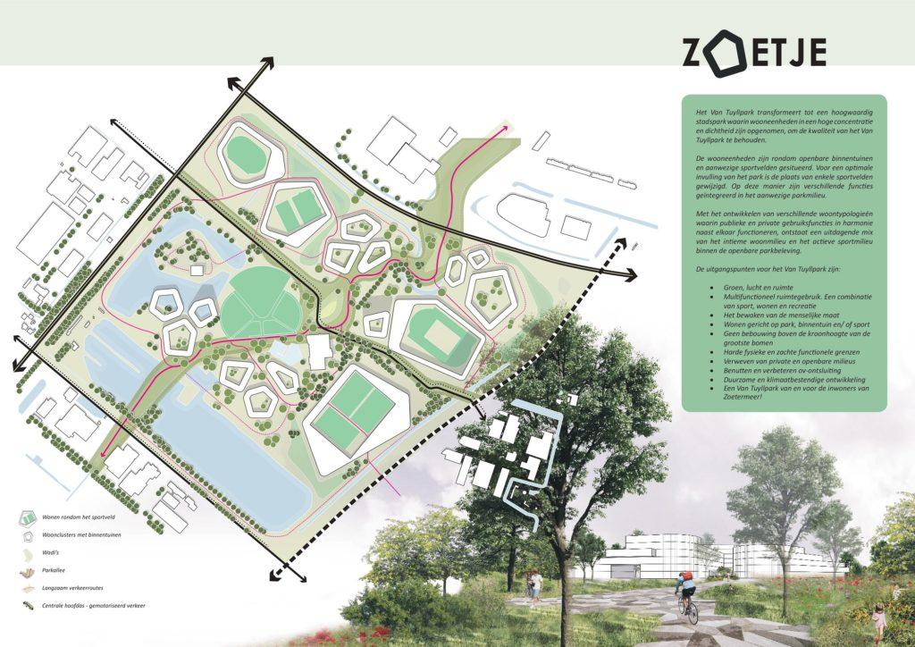 Zoetje, genomineerd stedenbouwkundig idee voor de prijsvraag Maximaal Park Maximaal Wonen