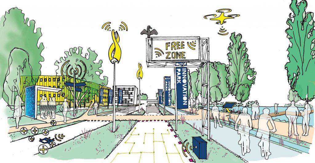 plan voor boulevard met innovatieve technologie op Dutch innovation campus