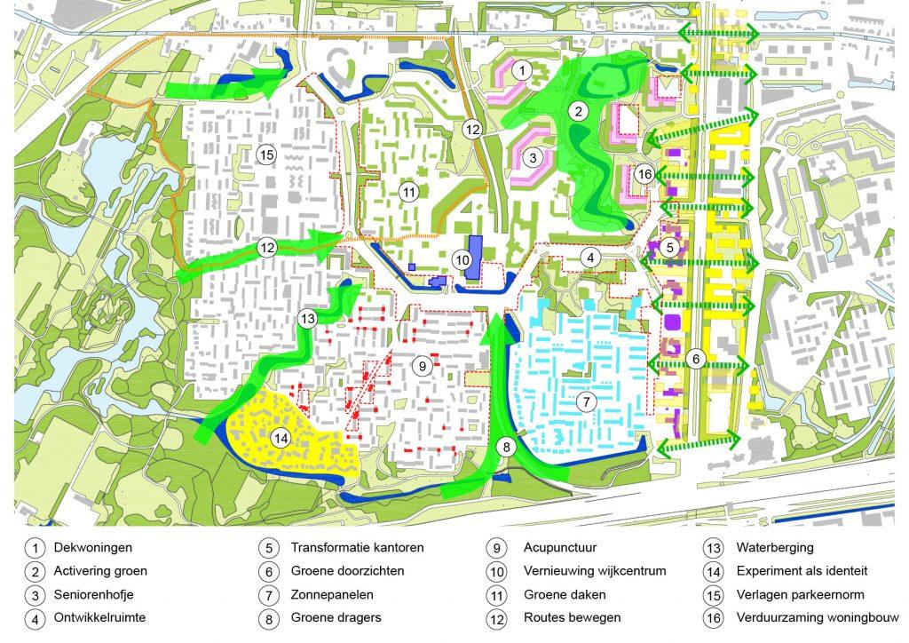 kaart met resultaten New Town Lab