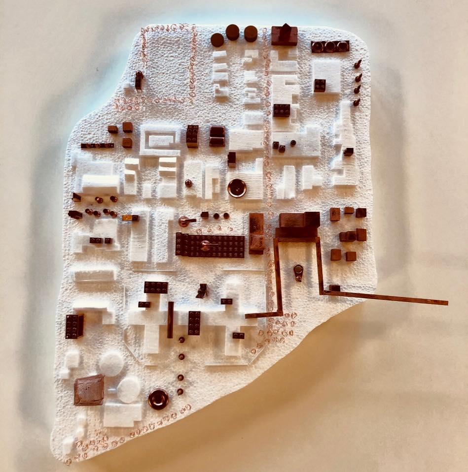 maquette bedrijventerrein rokkehage strategie voor de toekomst