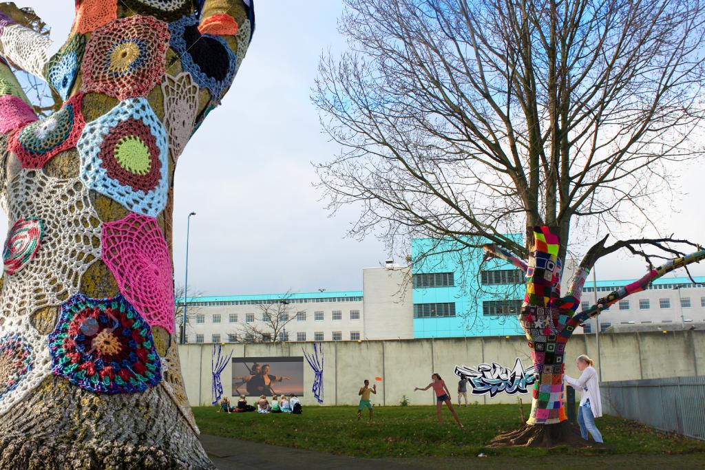 kunst in Rokkehage bij de gevangenis die leegstaat