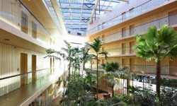 hout architectuur hotel van SeARC architecten