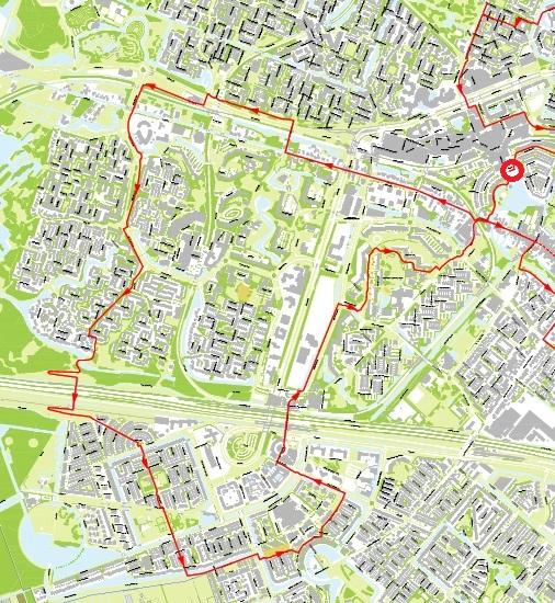 kaart fietsroute westwaarts zoetermeer