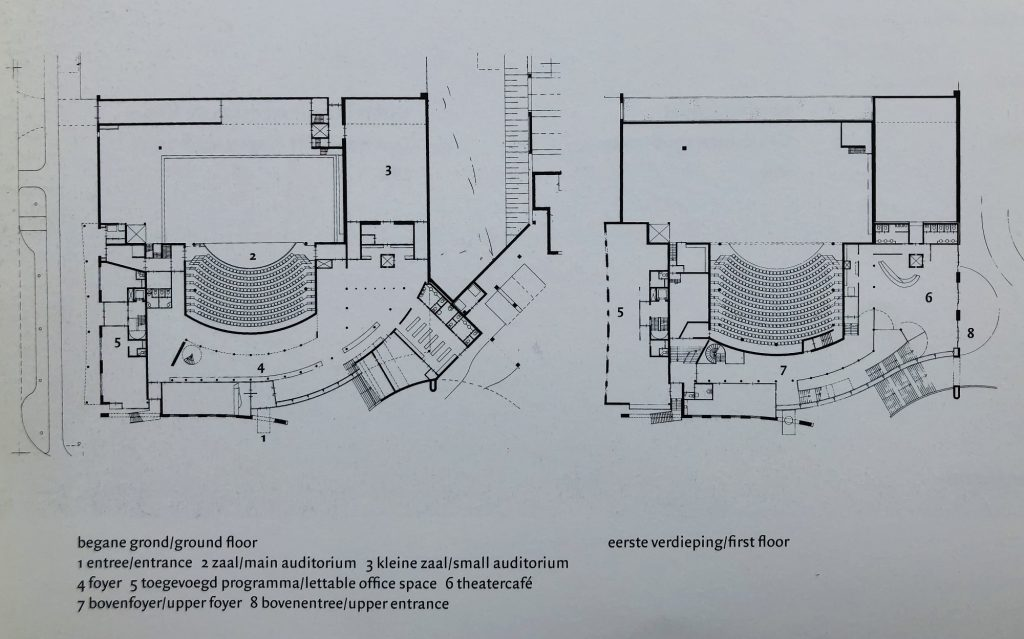 plattegrond stadstheater Zoetermeer  ontwerp van atelier PRO