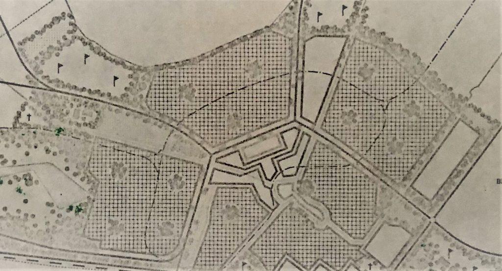 fragment facetplan Groen en recreatie Zoetermeer uit 1968