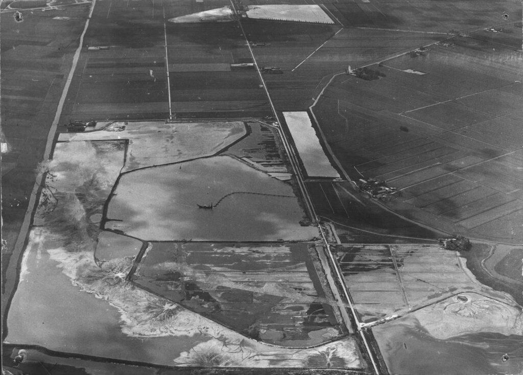 uitgraven Zoetermeerse plas voor zandwinning bouw nieuwe stad